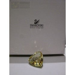 SWAROVSKI CUORE GIALLO YELLOW HEART 662036